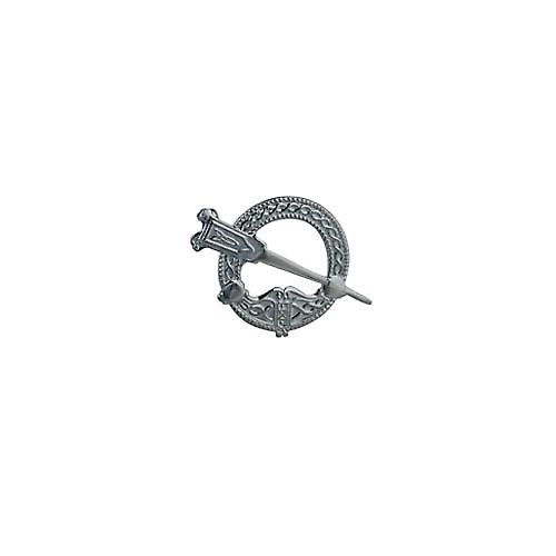 Silver 23x34mm embossed Tara Brooch