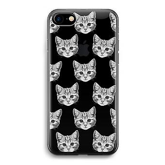 iPhone 7 Transparent fodral (Soft) - kattunge