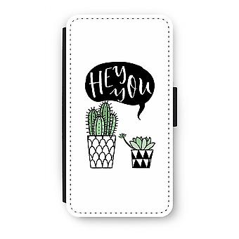 Samsung Galaxy J3 (2016) Flip Case - Hey you cactus