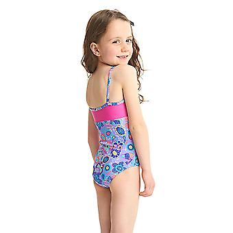 ZOGGS Girls Wild Classicback Swimsuit - Lilac/Multi