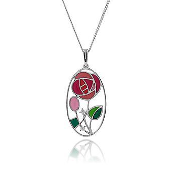 Gemondo 925 стерлингового серебра 0.04ct топаз Rennie Mackintosh стиль ожерелье