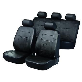 Soft Nappa car seat cover-Black Artificial leather For Vauxhall ZAFIRA 1999-2005