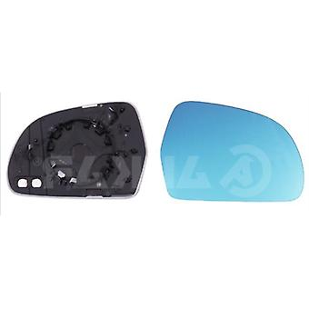 Right Blue Mirror Glass (heated) & Holder for AUDI A5 Convertible 2009-2011