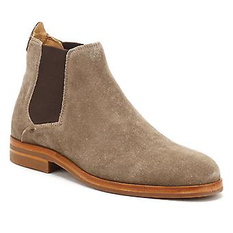 Hudson Mens Taupe Suede Tonti Boots