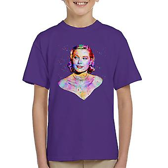 Grace Kelly At Cannes Film Festival 1955 Multicolour Kid's T-Shirt