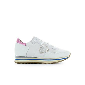 PHILIPPE MODEL TROPEZ HIGHER WHITE GLITTER SNEAKER