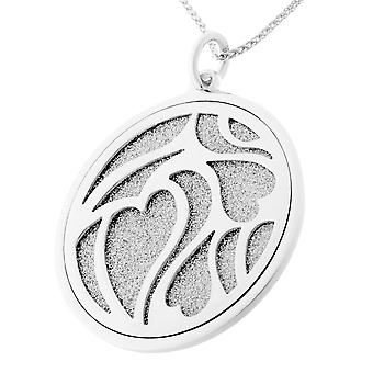 Orphelia Silver 925 Chain With Pendant Two Layered Glitter   ZH-7097