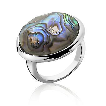 Orphelia argento 925 anello vetro verde Mop ZR-3909