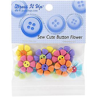 Dress It Up Embellishments-Sew Cute Button Flower