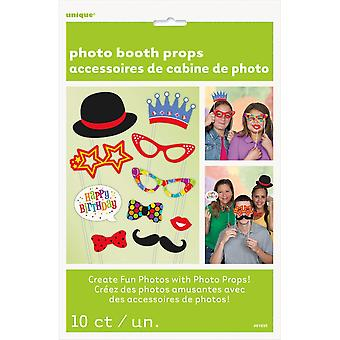 Photo Booth Props 10/Pkg-All Occasion