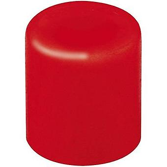 Mentor 1840.0021 Push button Red (Ø x H) 3.8 mm x 4 mm 1 pc(s)