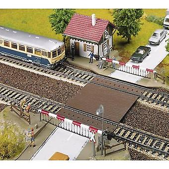 H0 Railway crossing and attendants hut Faller 120174 Assembly kit