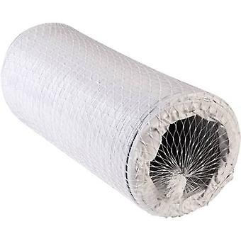 Fleksibel spiral rør plast (Ø x L) 12,7 cm x 6 m Wallair N52856 hvit