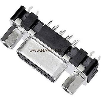 D-SUB receptacles 180 ° Number of pins: 15 Soldering Harting
