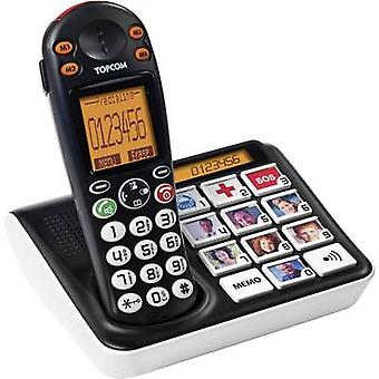 Topcom Sologic B935 Cordless Big Button Camera button, Visual call notification Backlit Black, White