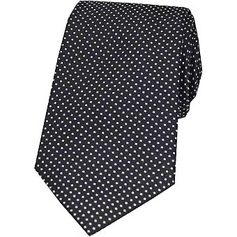 David Van Hagen Pin Dot Silk Tie - Black