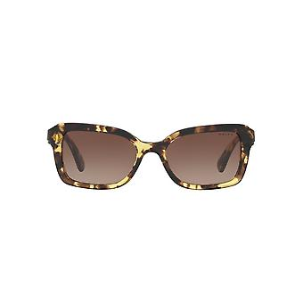 Ralph By Ralph Lauren Two Tone Rectangle Sunglasses In Yellow Tortoise