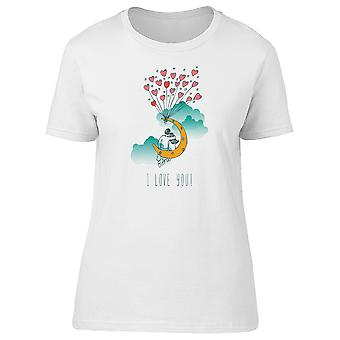 I Love You! Couple On The Moon Tee Women's -Image by Shutterstock