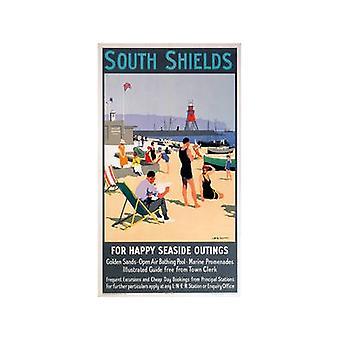 South Shields (alte Schiene Ad.) Stahl-Kühlschrank-Magnet