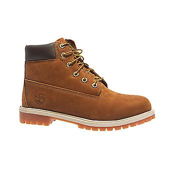 Timberland 6 inch premium rust NBK junior real leather boots Brown