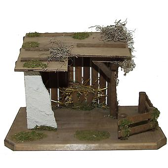 Crib Nativity scene wood Nativity stable IMMANUEL hand work for characters up to 13 cm