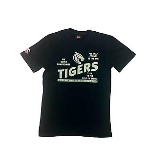 CCC-Leicester Tigers Rugby-distressed Erbe T-shirt [Schwarz]