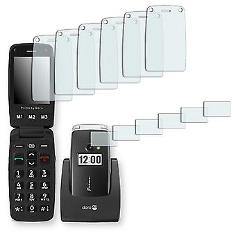 Doro Primo 413 screen protector - Golebo crystal-clear protector (deliberately smaller than the display, as this is arched)