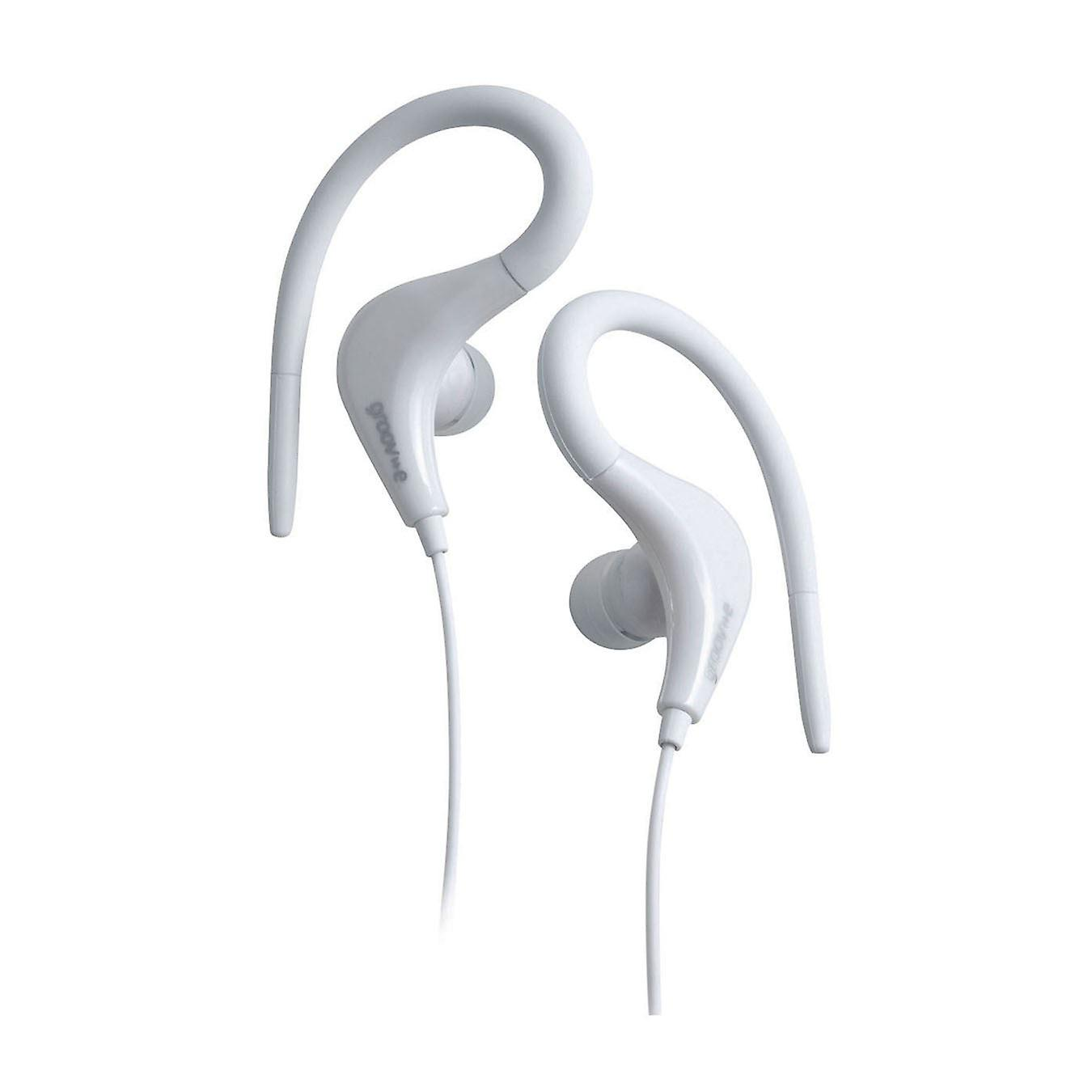 Groov-e GVEB12WE Sport Gym Running Clip On Earhook Earphone Headphone