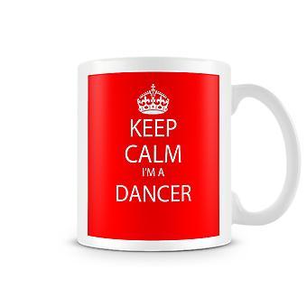 Houd kalm, ik ben een danser bedrukte mok
