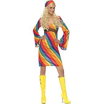 Rainbow Hippie Costume, UK Dress 12-14