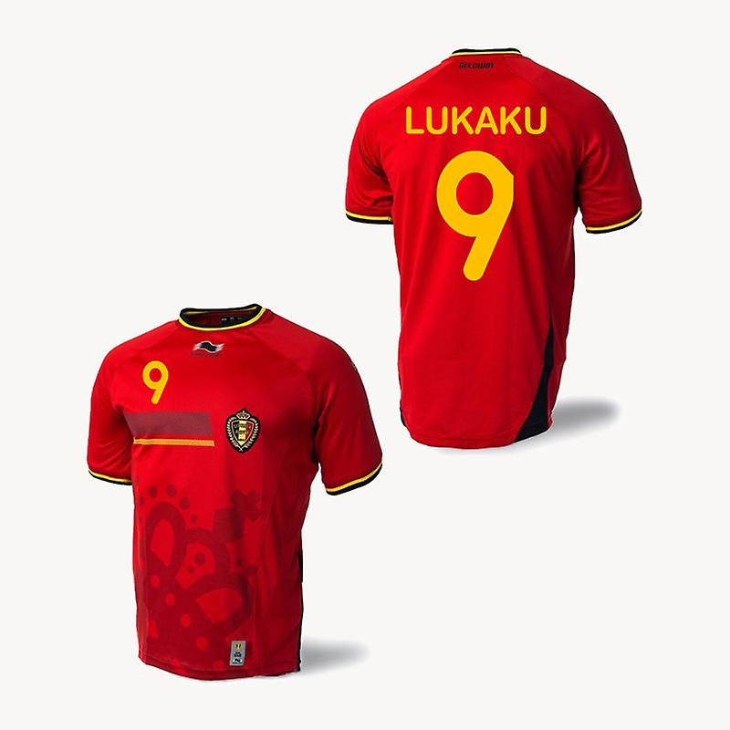 2014-15 Belgium World Cup Home Shirt (Lukaku 9)
