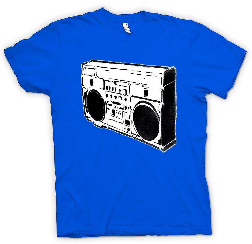 Mens T-shirt - Ghettoblaster Old School - BW