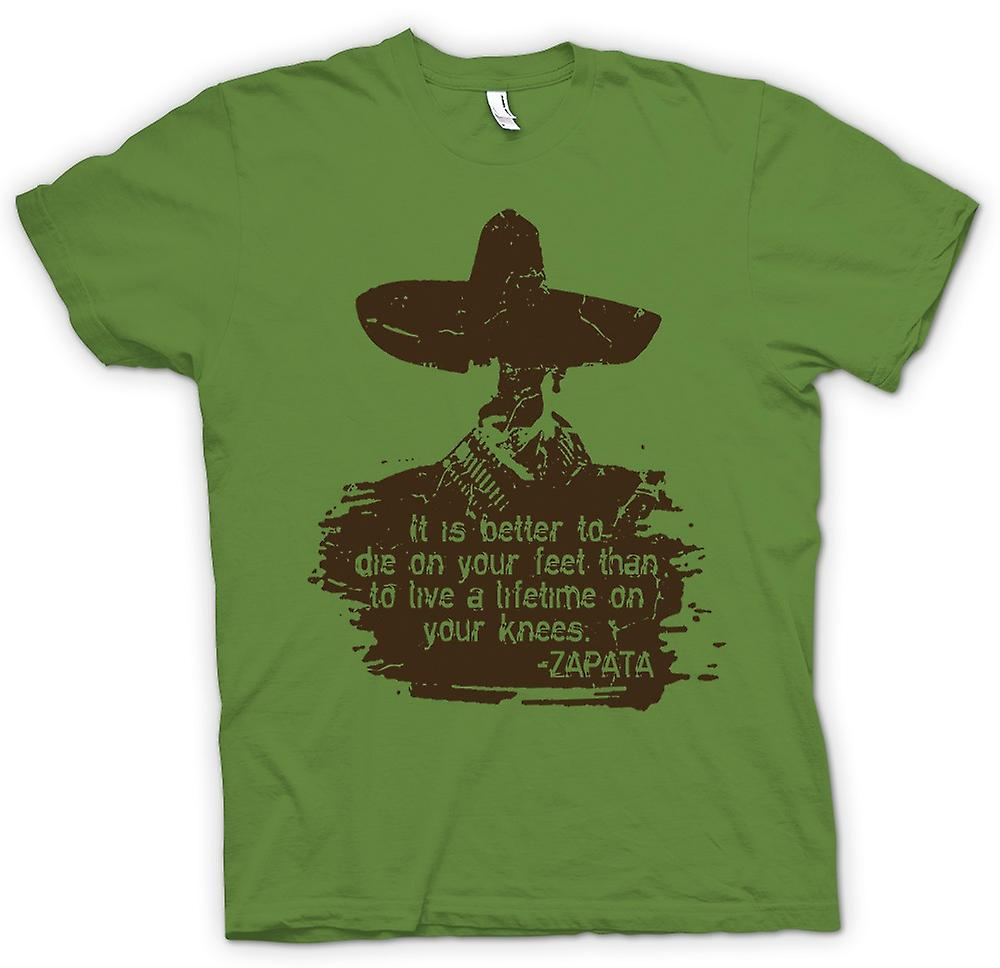 Mens T-shirt - It Is Better To Die On Your Feet Zapata