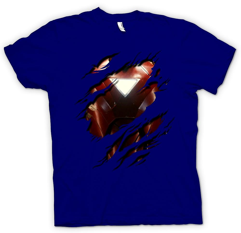 Herr T-shirt - Iron Man 2 triangel Arc - superhjälte slet Design