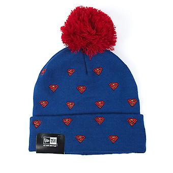 New Era Spotted Character Superman Knit HatBlue