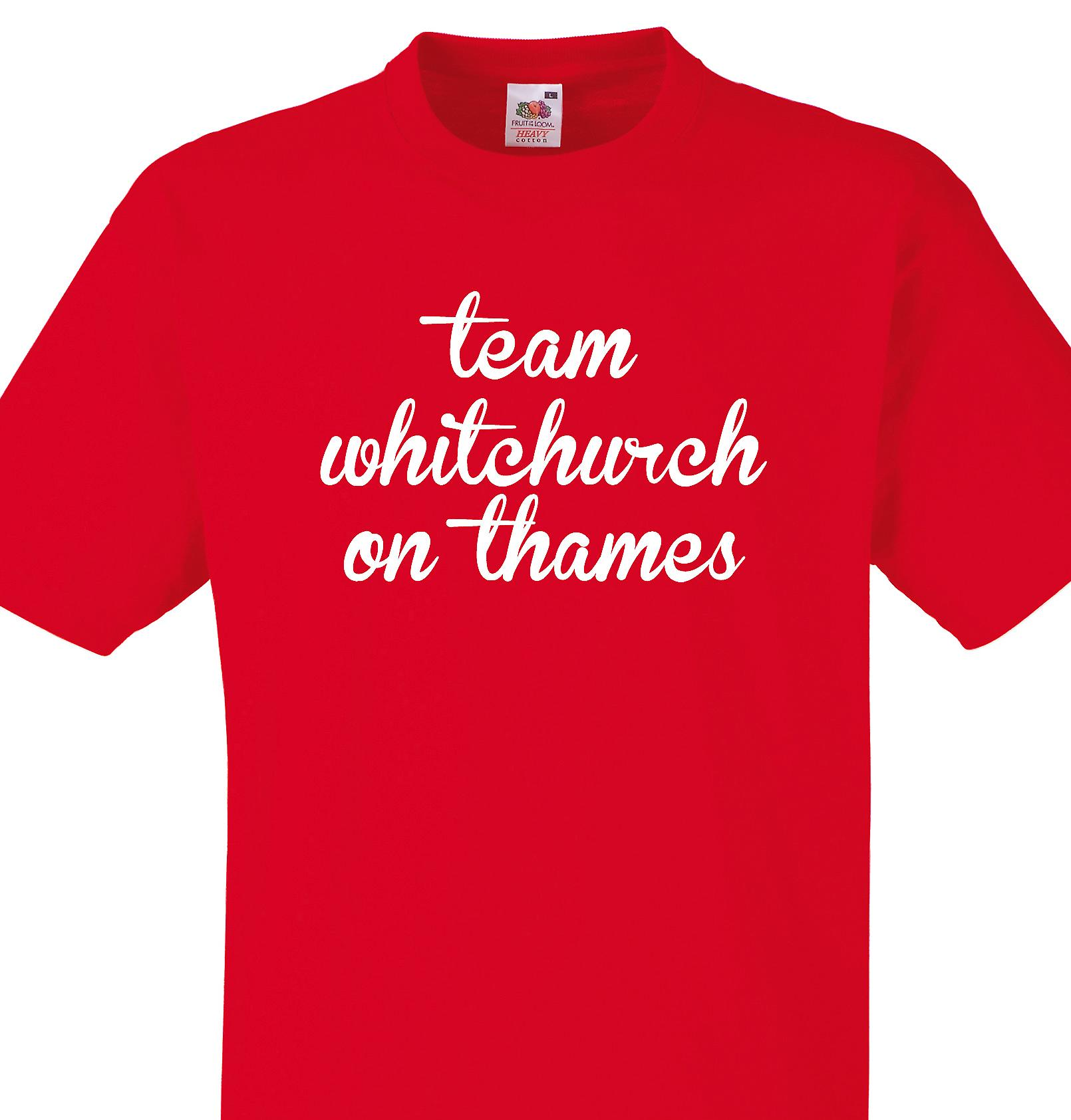 Team Whitchurch on thames Red T shirt