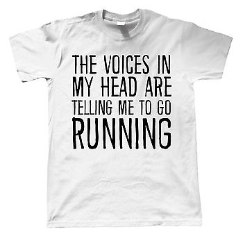 Voices In My Head Running, Mens Funny T Shirt