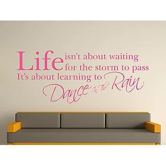 Tanz im Regen Wall Art Sticker - Pink