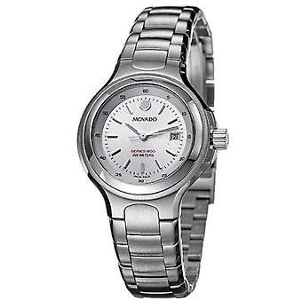Movado 2600031-wrist watch for women, silver tone stainless steel strap
