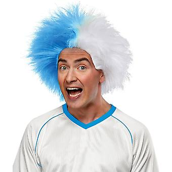 Perücke für Sport Spaß leichte blaue Whit
