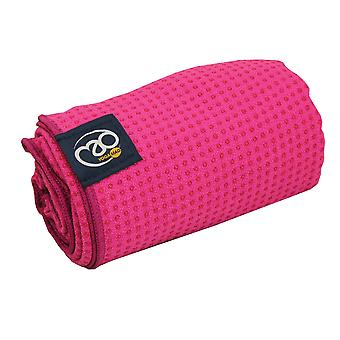 Fitness Mad Grip Dot Yoga Mat Towel - Pink