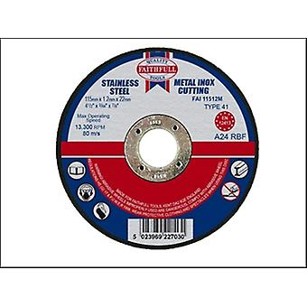 Faithfull corte disco para Metal 115 x 1.2 x 22 mm