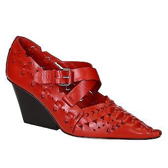 Céline Red Leather Pumps