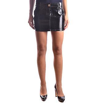 Pinko Black Cotton Skirt