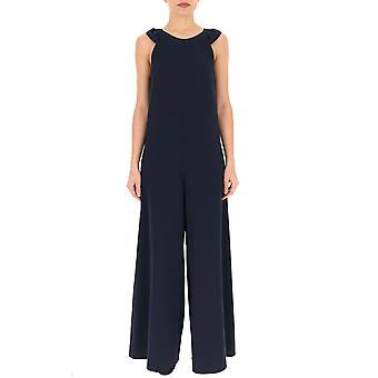 Red Valentino Blue Synthetic Fibers Jumpsuit