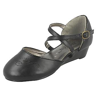 Girls Spot On Wedge Heeled Formal Shoe