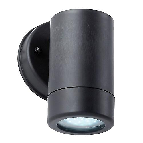 Saxby EL-40053 Icarus IP44 2.5W Modern Outdoor Wall Light In Black
