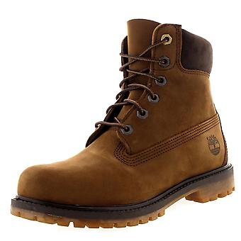 Womens Timberland 6 Inch Premium Waterproof Winter Lace Up Ankle Boots