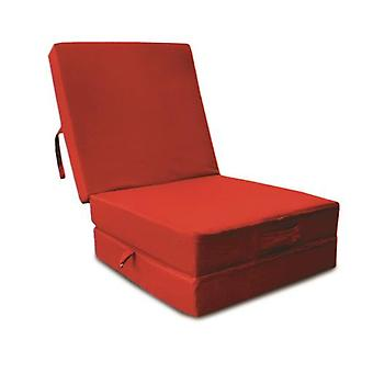 Cotton Fold Out Z Bed Cube - Red