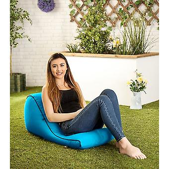 Türkisfarbener ' Kai ' Wasserwiderstands-Outdoor Bean Bag Wedge Lounger Rucksack